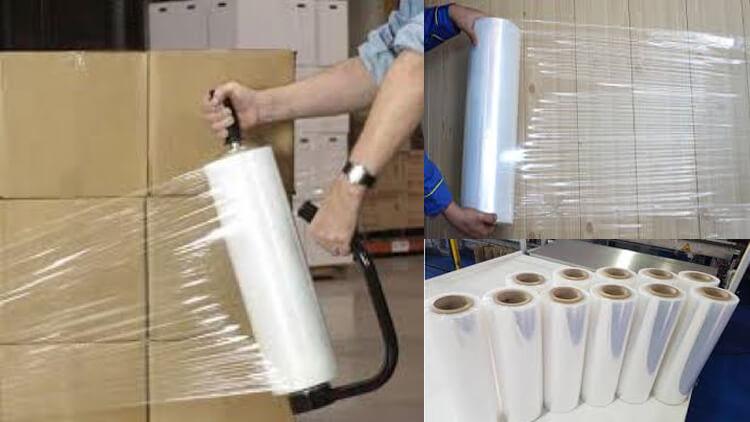 فیلم استرچ یا سفلون که جهت بسته بندی محصولات از آن استفاده می شود.