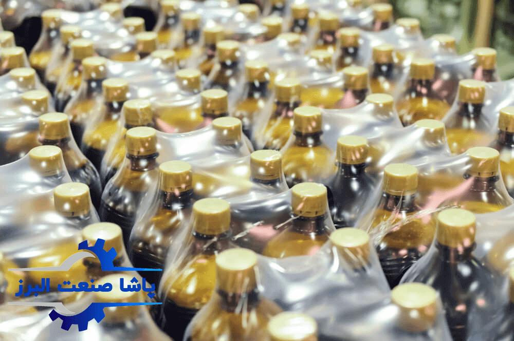 شیرینگ بطری های نوشابه به کمک دستگاه شیرینگ