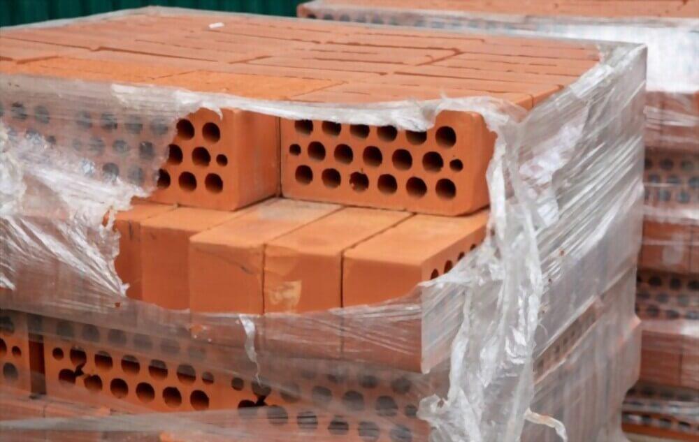 بسته بندی آجر و بلوک به کمک فیلم های استرچ